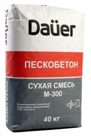Caractéristiques du mélange sec M300