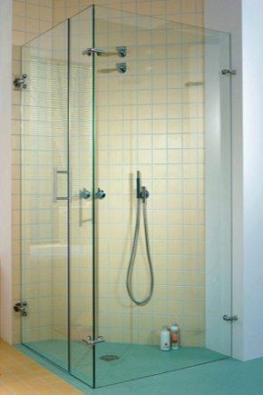 Regler för att välja tillbehör till glas duschkabiner