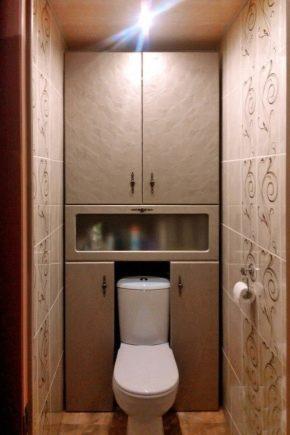 Einbauschrank in der Toilette hinter der Toilette (64 Fotos ...
