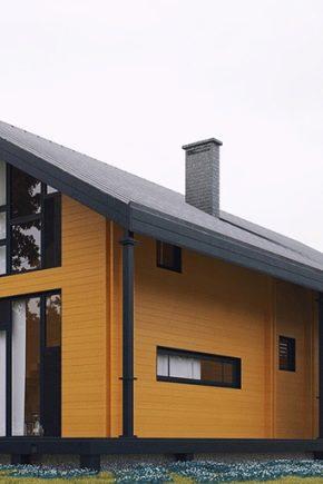 منازل من الأخشاب المزدوجة 53 صورة مشاريع البناء الدافئ البناء وفقا للتقنية الفنلندية استعراض أصحابها