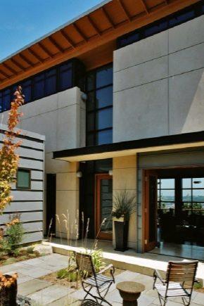 Panneaux de fibres de ciment pour la maison extérieure