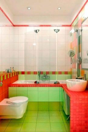 Översikt av moderna plattor för ett litet bad: exempel på design