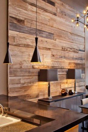 लकड़ी के साथ दीवारों को सजाने की प्रक्रिया की subtleties