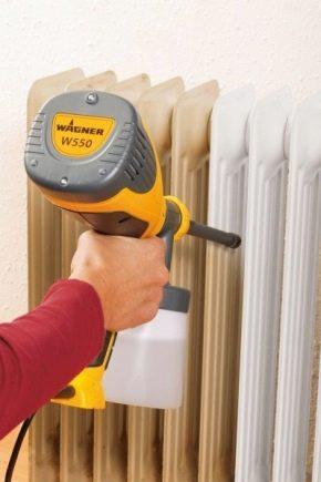 Émaux de radiateur: caractéristiques de composition et directives de sélection