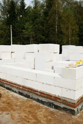 Основата за къщата на пяна блокове: какво да избере и как да се лее?