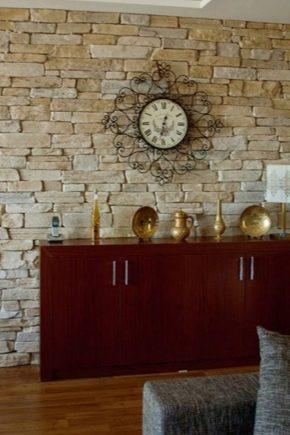 दीवार सजावट के लिए पत्थर का सामना करने का उपयोग करें