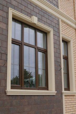 Enquadrar as janelas na fachada da casa: tipos de materiais e métodos de registro