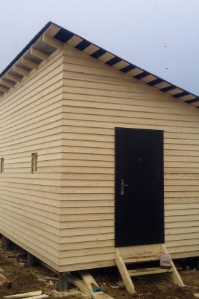 Features of construction in the country house of a barn with a lean-to roof with the size of 3x6 m