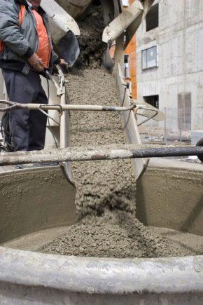 As proporções de concreto para a fundação: as regras da auto-mistura