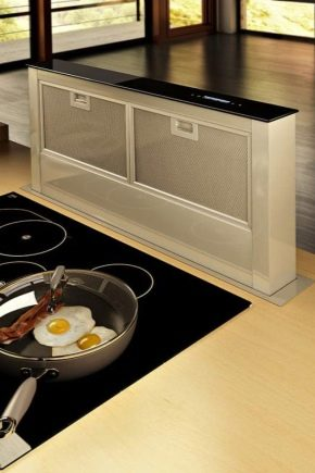 Choosing a hood that is built into the countertop