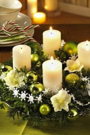 Making and decor of candles for the New Year