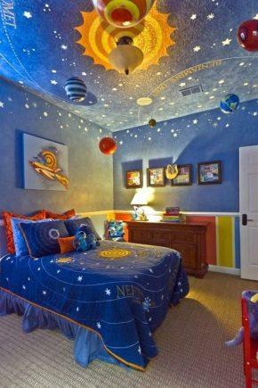 Decke im Kinderzimmer (47 Fotos): Entwurf mit einem ...