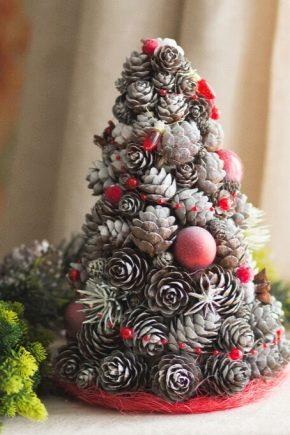 शंकु से क्रिसमस सजावट: विनिर्माण की विशेषताएं और रहस्य