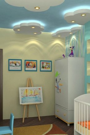 Design options stretch ceilings in the nursery