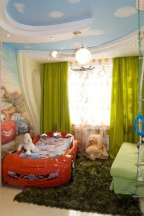 बच्चों के कमरे में प्लास्टरबोर्ड की छत के वेरिएंट