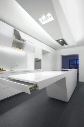 Design och design av ett kök-vardagsrum på 16 kvadratmeter. m