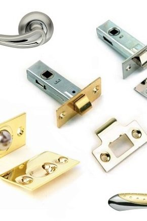 Door latches: types, device and subtleties of installation