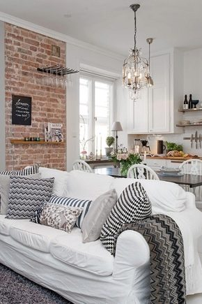 Kök-vardagsrum på 25 kvadratmeter. m: Subtiliteter av design och designalternativ
