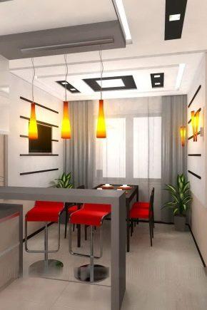 Design combinato con la cucina del soggiorno in una casa ...