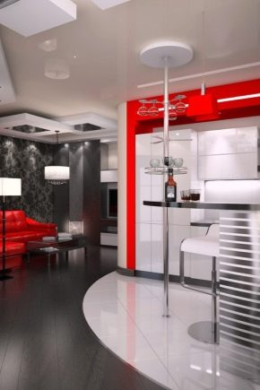 Small kitchen-living room: how to create an ergonomic and stylish space?