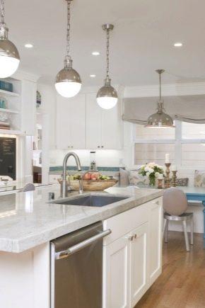 Illuminazione della cucina-soggiorno (11 foto): il design ...