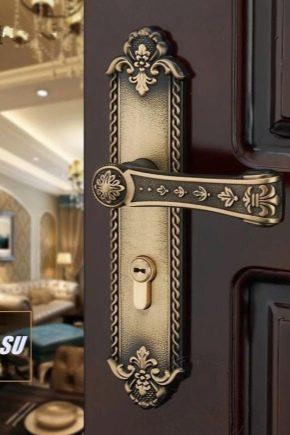 Poignées de porte sur la barre: types et conseils pour choisir