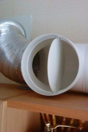Karakteristieken van terugslagkleppen voor ventilatie en kenmerken van hun installatie
