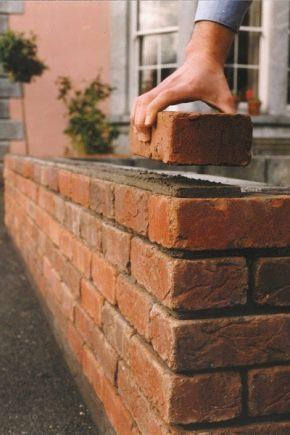 Brickwork: méthodes, tailles et principes