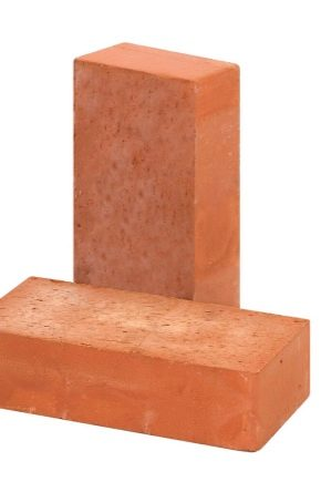 Sizes and features of red brick