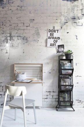 Opções de design para paredes de tijolos brancos