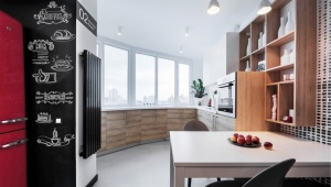 Design of a balcony combined with a kitchen
