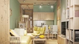 Design studio apartment of 23 square meters. m