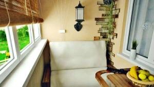Design of a small balcony or a small loggia