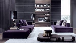 Purple sofas