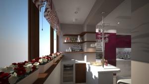 Kitchen on the loggia