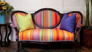 Uppfyllning av soffan med egna händer