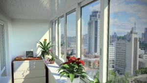 Sliding windows to the balcony