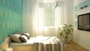 Design bedroom area of ​​12 square meters. m