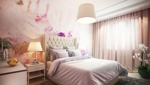 Design bedroom area of ​​18 square meters. m