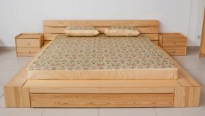 Beds from solid pine