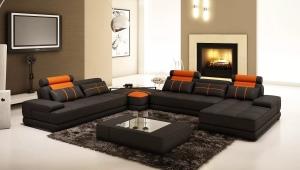 Corner sofa in the interior