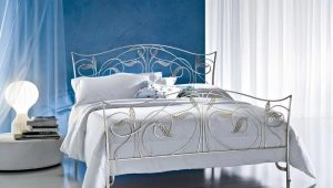 White wrought beds