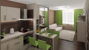 Design studio apartment 25 square. m