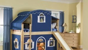 Bunk bed-house in the interior of the nursery