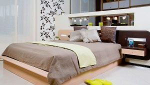 Beds with bedside tables