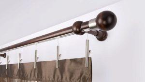 Trä gardinstänger för gardiner