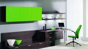 Bureau d'ordinateur avec armoire