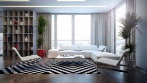 Zebra carpet in the interior