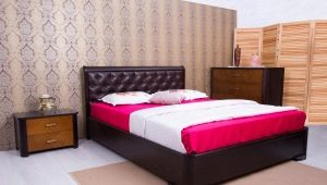 Features beds with a lifting mechanism size 120x200 cm