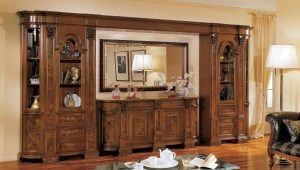 The walls in the living room in the popular classic style